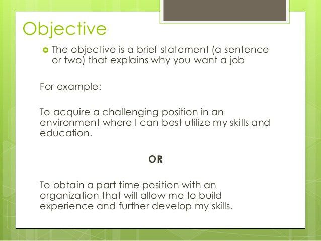 sample of career objective in resume how to write a career