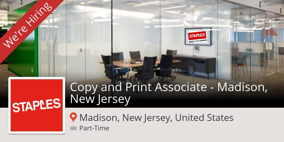 "Amy Theodore on Twitter: ""#Staples: Copy and #Print #Associate ..."