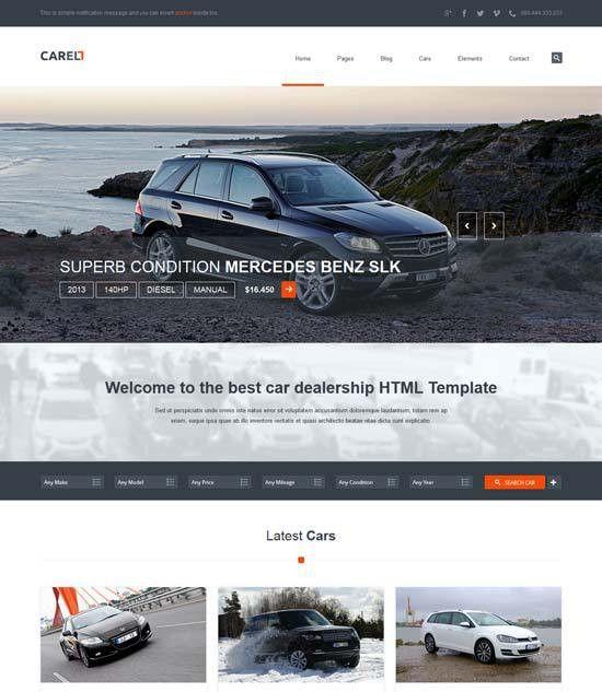 70+ Best Car Auto Website Templates Free & Premium - freshDesignweb