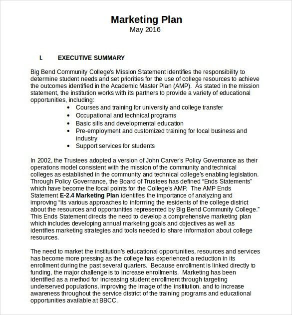 Marketing-Plan-Template-printable-free-Word