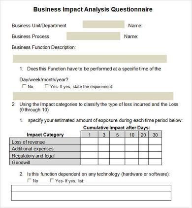 Business Impact Analysis - 4+ Documents in Word, PDF