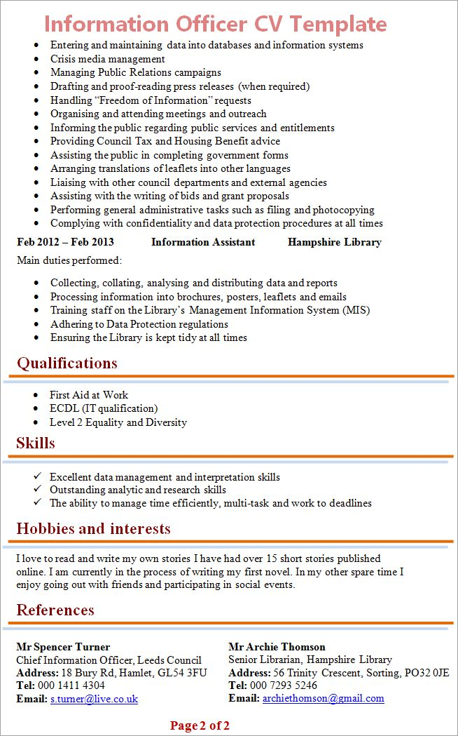 Top 8 chief information security officer resume samples 1