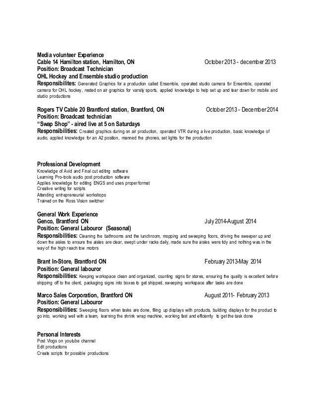 Media Resume
