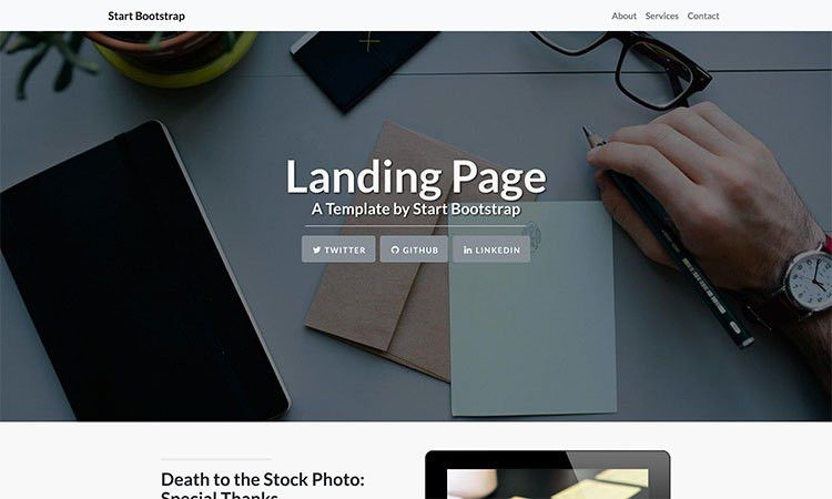 Landing Page - Free Bootstrap 4 Landing Page Theme - Start Bootstrap
