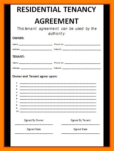 7+ free tenancy agreement template | assembly resume