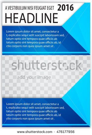 Blue Abstract Background Cover Design Template Stock Vector ...