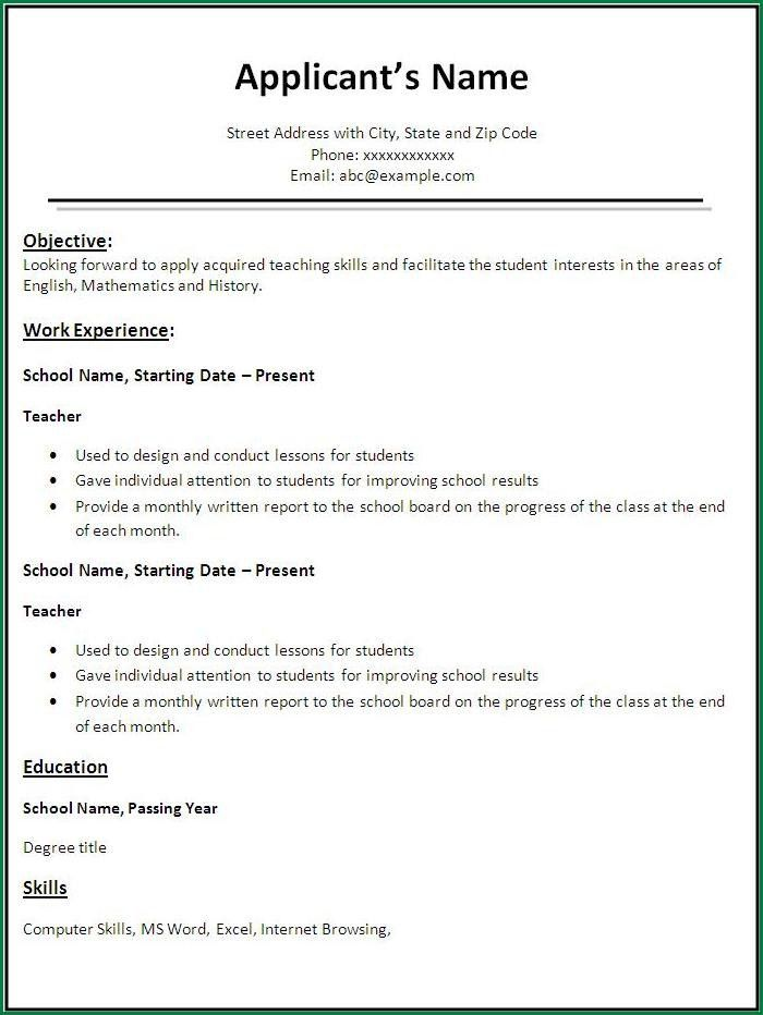 choose. sample student teacher resume resume example sample ...
