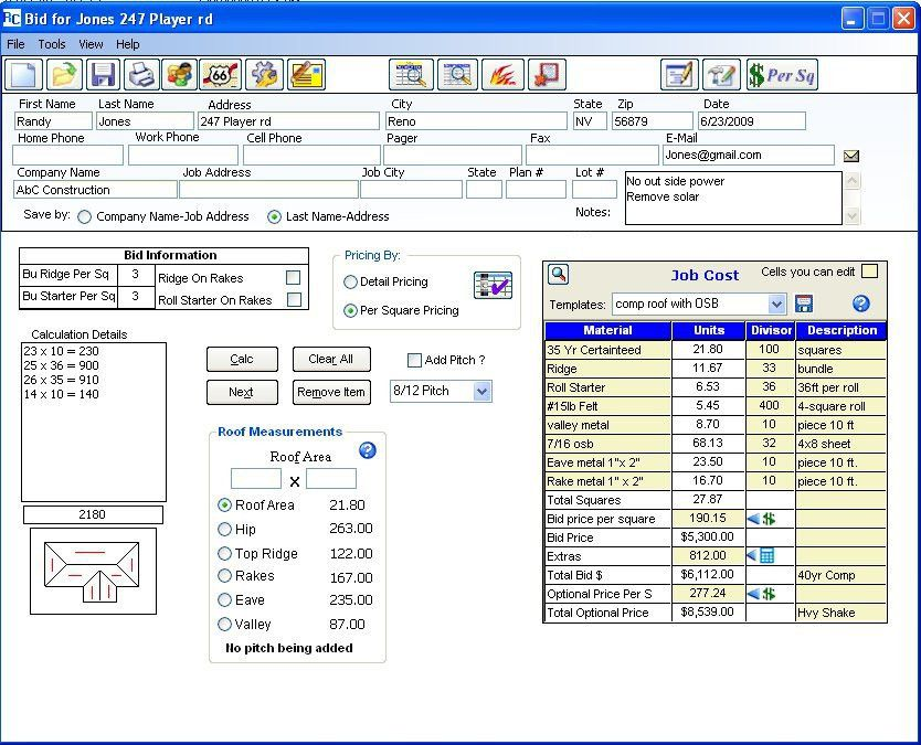 Roof Estimates & Create Professional Looking Contract Proposals ...