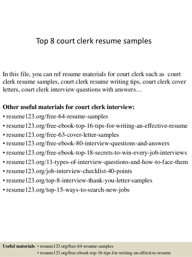 Resume Objective Clerical Sample Cv Cover