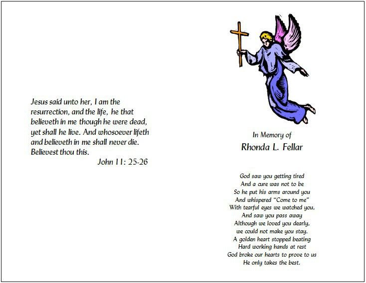 Funeral Program Templates - Funeral Program Templates - Home