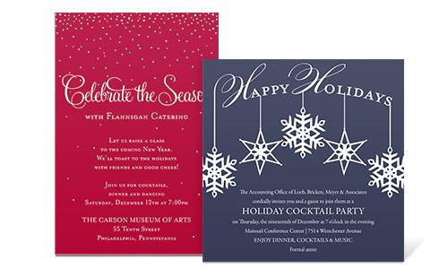 Corporate Holiday Party Invitations | THERUNTIME.COM