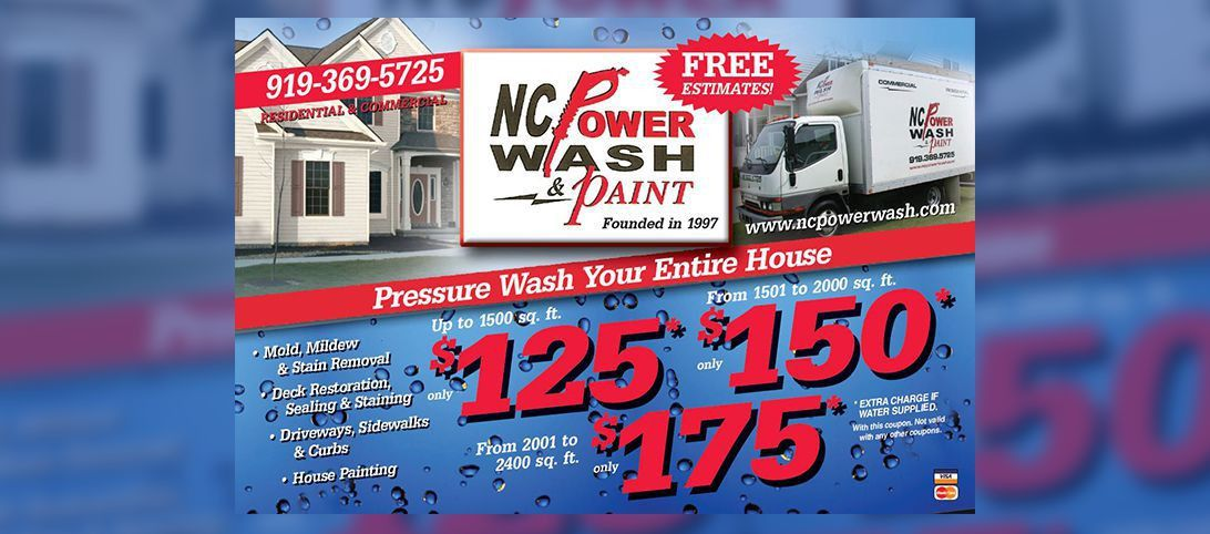 Pressure Washing in Raleigh & Cary NC | NC Powerwash & Paint