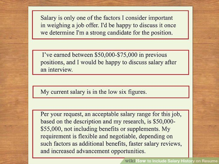 How to Include Salary History on Resume: 11 Steps (with Pictures)