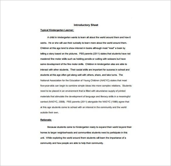 Unit Lesson Plan Template – 9+ Free Sample, Example, Format ...