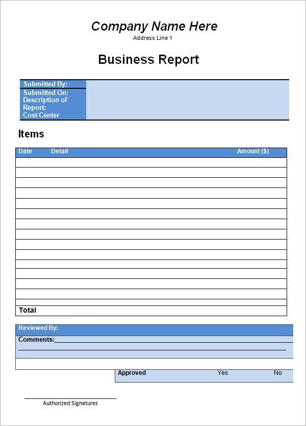 Company Report Template. Weekly Activity Report Template Download ...