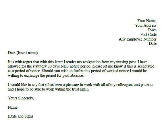 Formal resignation letter for nurses - forums.learnist.org
