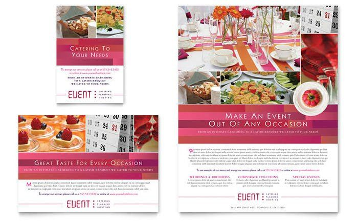 Corporate Event Planner & Caterer Flyer & Ad Template Design
