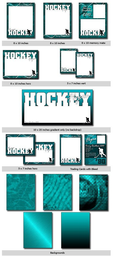 Sports Hockey Cutouts Vol 11 Photoshop & Elements Templates