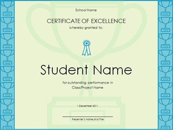 Microsoft Certificate Computer Template | Resume Format For Admin ...