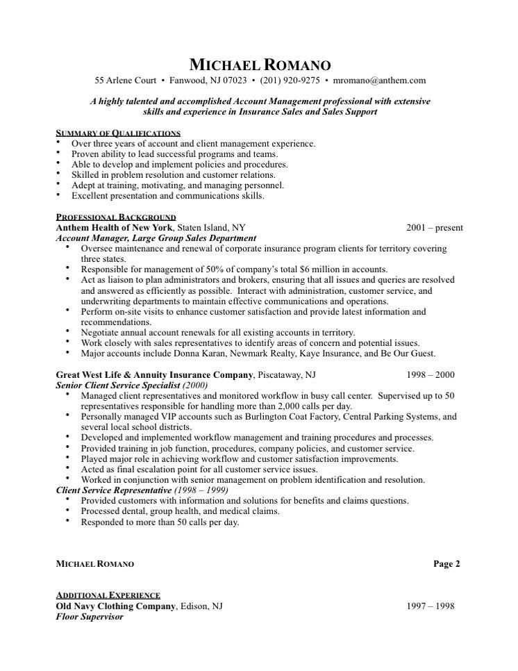 Download Account Representative Sample Resume ...