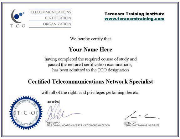 Telecommunications Certification
