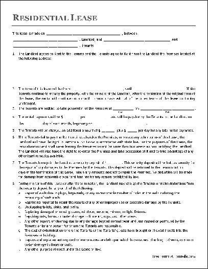 Apartment Lease Agreement Template | Template Design