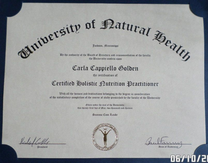 Bachelor of Science Degree & Practitioner Certifications