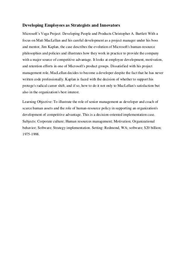 Microsoft corporation case analysis