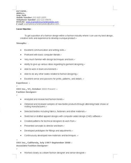 sample cover letter. 3 tips to write cover letter for fashion ...