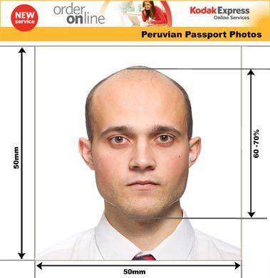 Peruvian Passport and Visa Photos