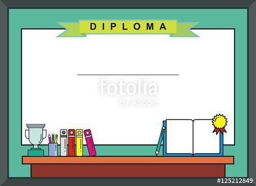 "Blank Kid Diploma - Certificate Background"" Stock image and ..."