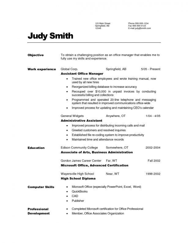 Curriculum Vitae : General Career Objective Examples For Resumes ...