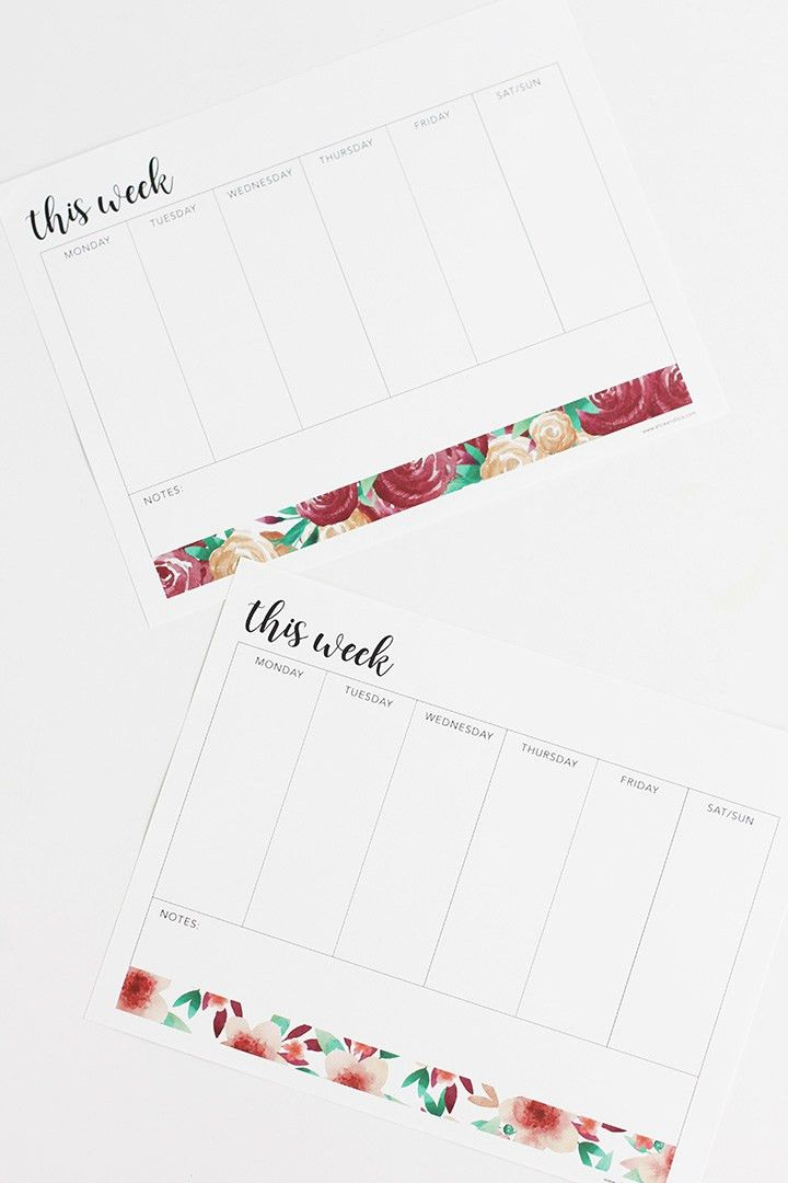Alice and LoisWeekly To Do List Free Printable - Alice and Lois