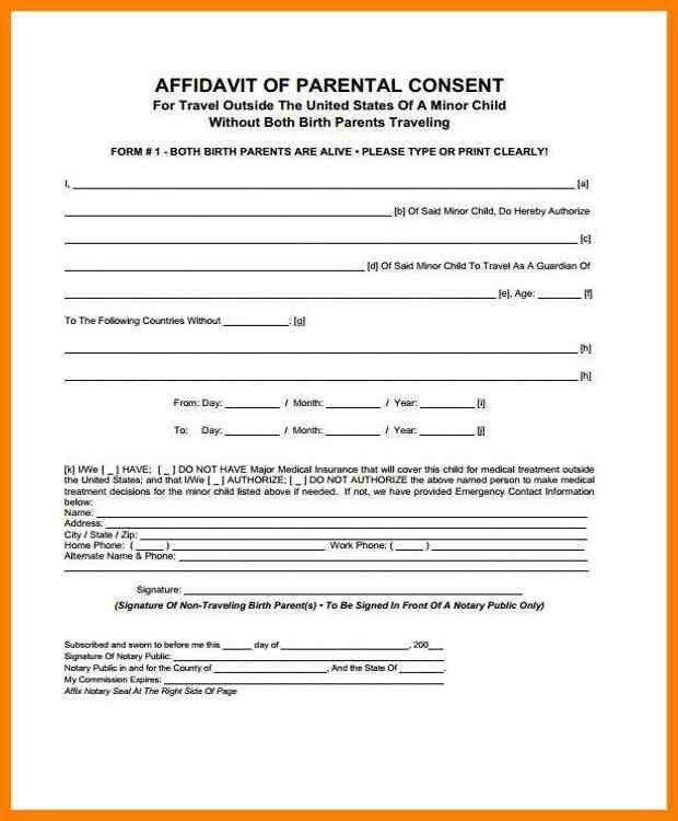 5+ free child travel consent form template | artist resumes