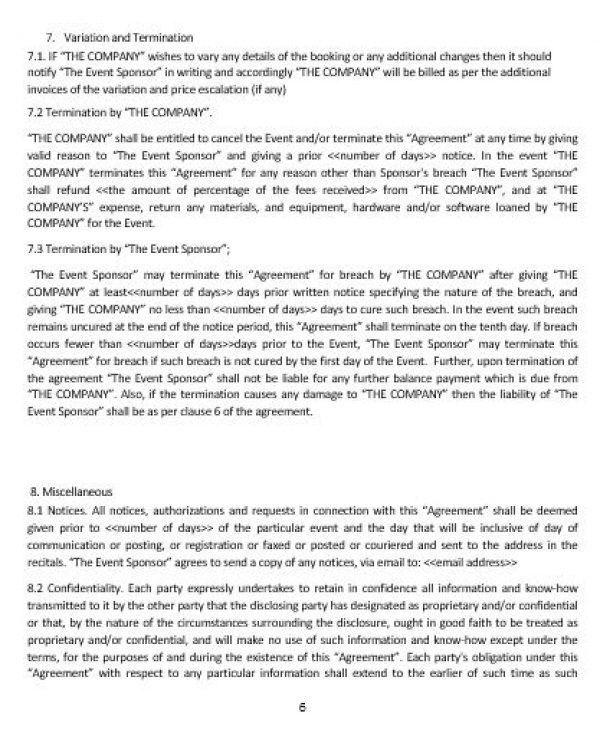 NE0285 EVENT SPONSORSHIP AGREEMENT TEMPLATE – ENGLISH – Namozaj