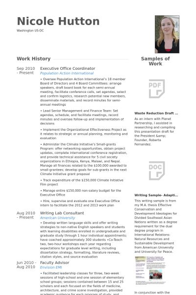 Office Coordinator Resume samples - VisualCV resume samples database
