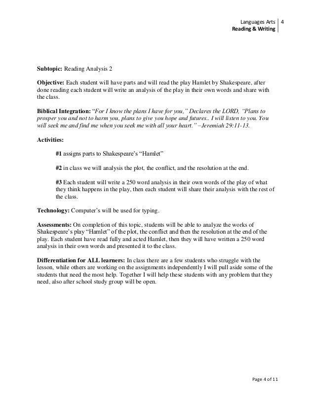 Curriculum Plan: 12th Grade English