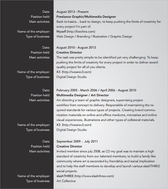 Creative Resume - 7+ Free Samples, Examples, Format