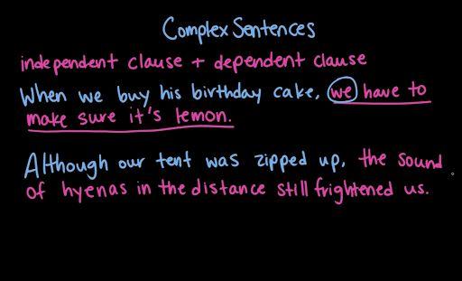 Complex sentences (video) | Khan Academy