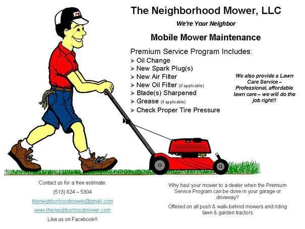 Mobile Mower Maintenance - The Neighborhood Mower