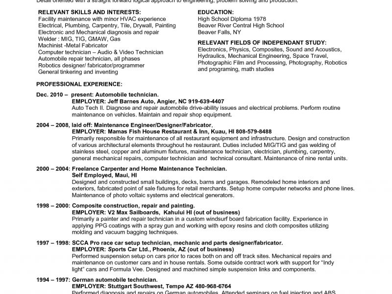 Bold Design Hvac Technician Resume 13 Hvac Technician Resume ...