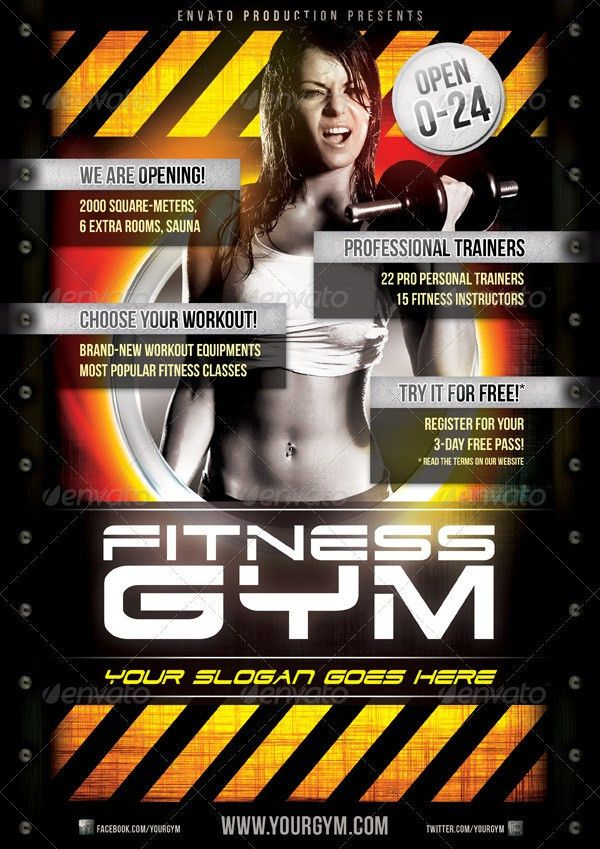 Fitness Gym Flyer Template by danielkemeny | GraphicRiver