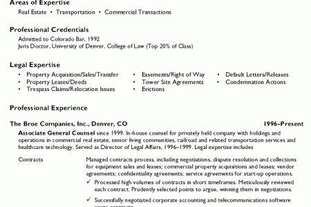 general counsel resumes