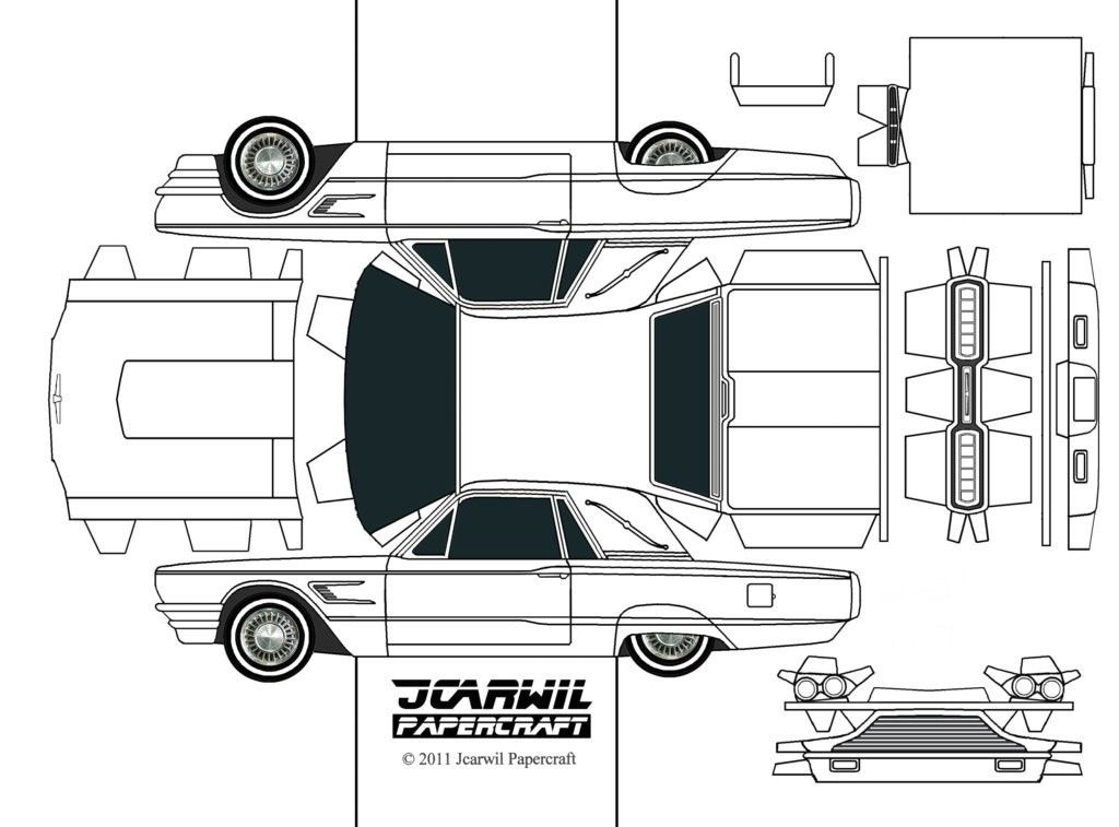 JCARWIL PAPERCRAFT '65 Ford Thunderbird | Printables and Templates ...
