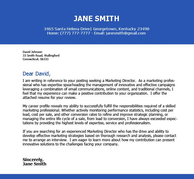 Impressive Cover Letter Examples - Best Letter Sample