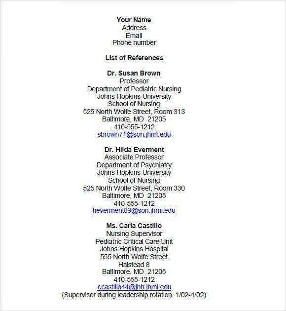 resume reference sheet format resume reference page example 11 ...