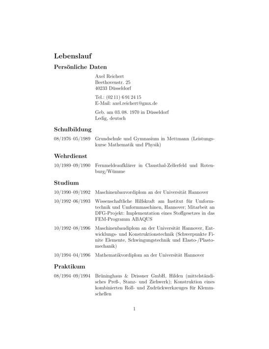 currvita - LaTeX Template - ShareLaTeX, Online LaTeX Editor