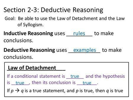 Section 2.3 Deductive Reasoning. - ppt video online download