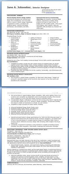 Interior Design Resume Template - Interior Design Resume Template ...