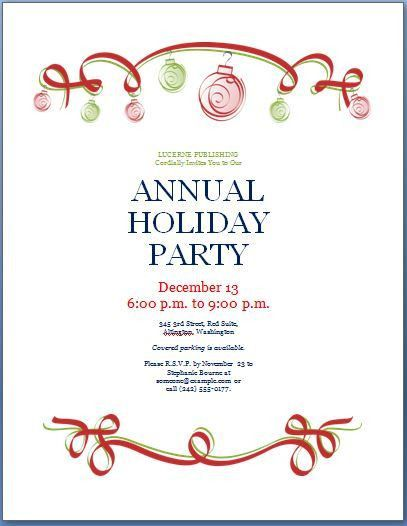 Holiday Party Invite Templates | cimvitation